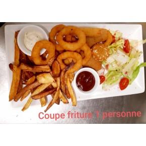 Coupe friture, 14 pièces, 2 sauces et frites