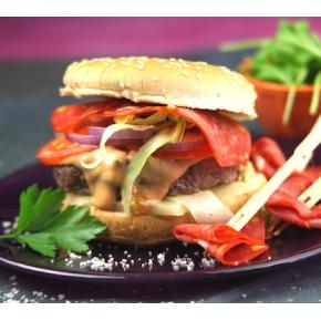 Burger bœuf chorizo,...