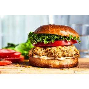 Burger poulet croustillant,...